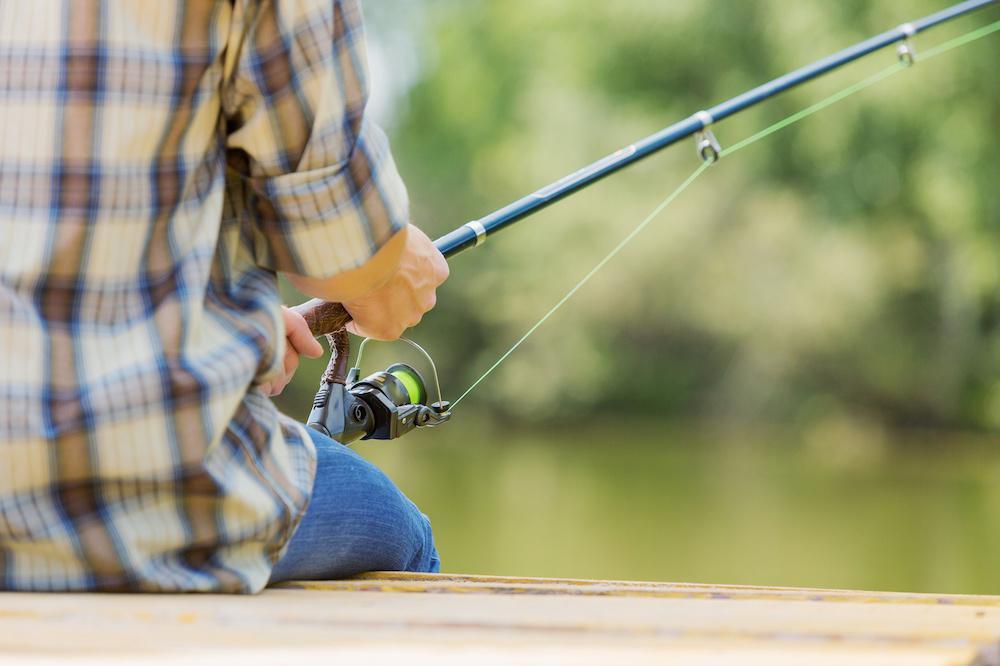 pêcheur en Aveyron